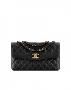 Chanel Black Lambskin Large Flap Bag