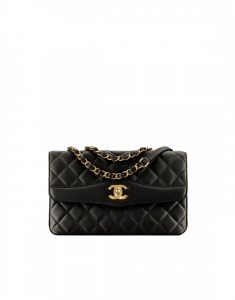 Chanel Black Lambskin Medium Flap Bag
