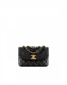 Chanel Black Lambskin Small Flap Bag