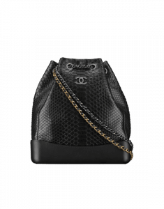 Chanel Black Python Gabrielle Large Backpack Bag