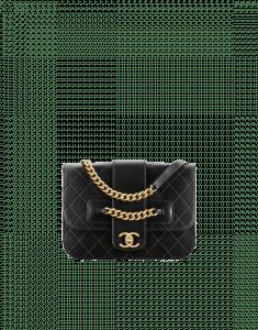 Chanel Black Sheepskin Flap Bag