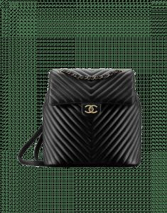 Chanel Black Urban Spirit Large Backpack Bag