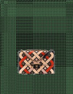 Chanel Black/Beige/Red Elaphe Beauty Lock Flap Bag