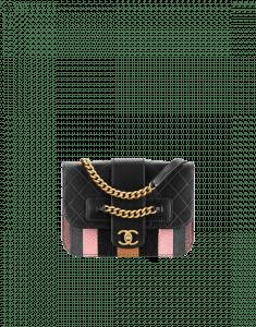 Chanel Black/Multicolor Calfskin/Python Flap Bag