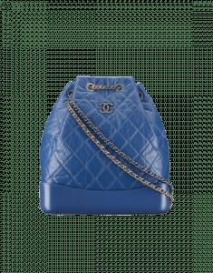 Chanel Blue Gabrielle Large Backpack Bag