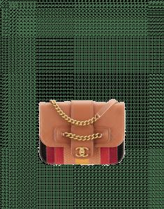 Chanel Brown/Multicolor Calfskin/Python Flap Bag