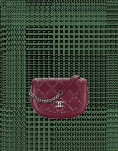 Chanel Burgundy Coco Eyelets Small Flap Bag
