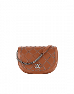 Chanel Camel Coco Eyelets Large Flap Bag