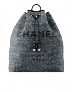 Chanel Charcoal Deauville Backpack Bag