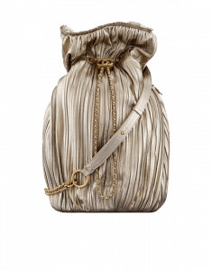 Chanel Gold Coco Pleats Large Backpack Bag