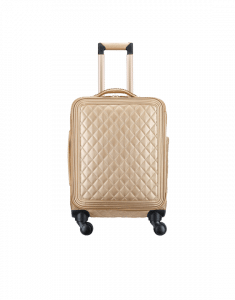 Chanel Gold Metallic Calfskin Coco Case Trolley Bag