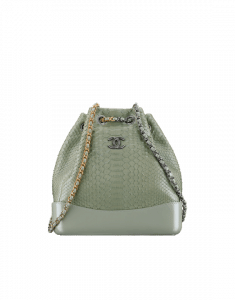 Chanel Green Python Gabrielle Backpack Bag
