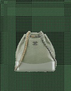 Chanel Green Python Gabrielle Backpack Bag