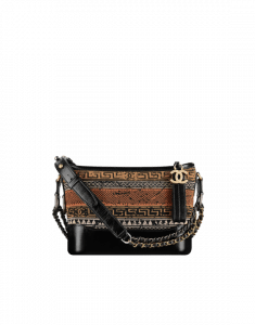Chanel Multicolor/Black Knit/Calfskin Gabrielle Small Hobo Bag