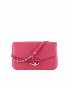 Chanel Pink Grained Calfskin Flap Bag