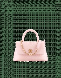 Chanel Pink Python Coco Handle Mini Bag