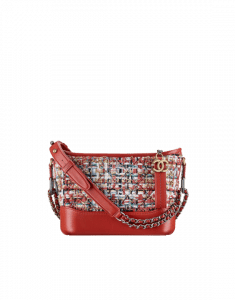 Chanel Red/White/Blue Tweed/Calfskin Gabrielle Small Hobo Bag