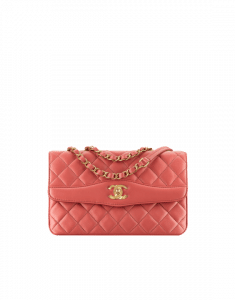 Chanel Rosewood Lambskin Medium Flap Bag