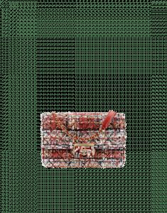Chanel Terracotta/Ecru/Black/Blue Tweed/Lambskin Beauty Lock Flap Bag