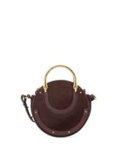 Chloe Brown Suede Small Pixie Bag