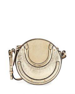 Chloe Gold Metallic Mini Pixie Bag