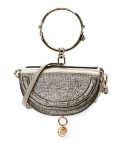 Chloe Gold Metallic Nile Small Bracelet Minaudiere Bag