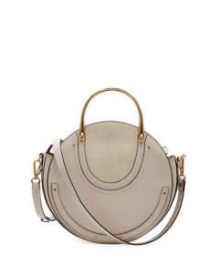 Chloe Gray Calfskin/Suede Small Pixie Bag