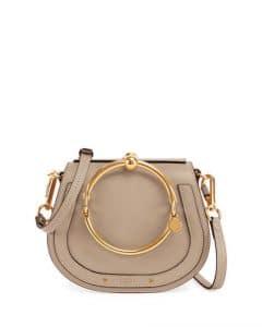 Chloe Gray Medium Nile Bracelet Bag