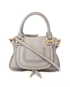 Chloe Gray Small Marcie Bag