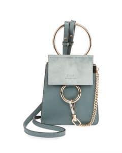 Chloe Light Blue Faye Small Bracelet Bag