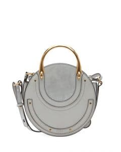 Chloe Light Gray Calfskin/Suede Small Pixie Bag