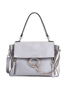 Chloe Light Gray Faye Medium Day Bag