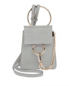 Chloe Light Gray Faye Small Bracelet Bag