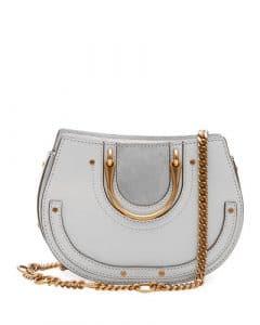 Chloe Light Gray Mini Pixie Tote Bag