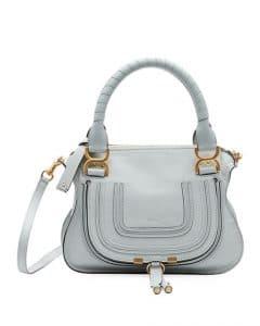 Chloe Light Gray Small Marcie Bag