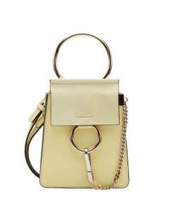 Chloe Light Yellow Faye Small Bracelet Bag