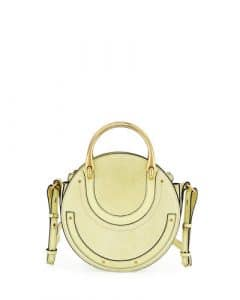 Chloe Light Yellow Suede Small Pixie Bag