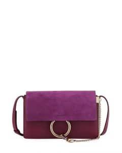 Chloe Purple Small Faye Shoulder Bag