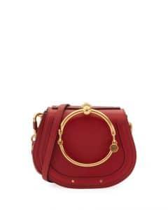 Chloe Red Small Nile Bracelet Bag
