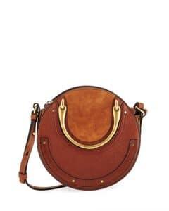 Chloe Tan Calfskin/Suede Small Pixie Bag