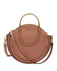 Chloe Taupe Calfskin/Suede Medium Pixie Bag