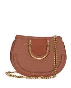 Chloe Taupe Mini Pixie Tote Bag
