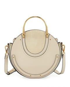 Chloe White Calfskin/Suede Medium Pixie Bag