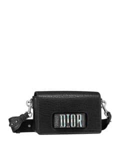 Dior Black Canyon Grained Lambskin Dio(r)evolution Flap Bag