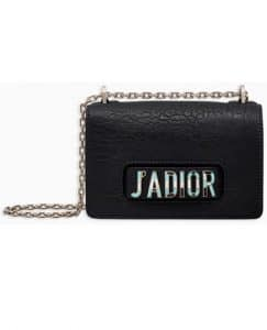 Dior Black Canyon Grained Lambskin J'adior Flap Bag
