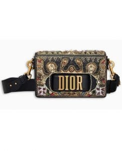 Dior Black Embroidered Dio(r)evolution Flap Bag