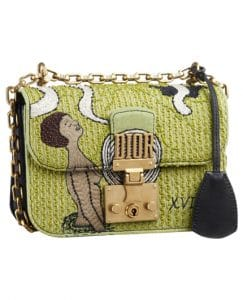 Dior Green Embroidered Dioraddict Flap Bag