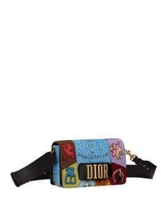 Dior Multicolor Wheel of Fortune Embroidered Dio(r)evolution Flap Bag