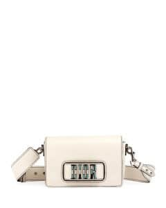 Dior Off-White Canyon Grained Lambskin Dio(r)evolution Flap Bag