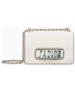Dior Off-White Canyon Grained Lambskin J'adior Flap Bag